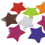 Beads Solid Color akrilik, Yll, asnjë, ngjyra të forta, ngjyra të përziera, 28.50x26x5mm, : 2mm, 5KG/Shumë,  Shumë