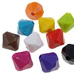 Beads Solid Color akrilik, Bicone, asnjë, ngjyra të forta, ngjyra të përziera, 16x17mm, : 3mm, 5KG/Shumë,  Shumë