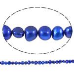 Barok Beads kulturuar Pearl ujërave të ëmbla, Pearl kulturuar ujërave të ëmbla, Nuggets, i lyer, blu, 8-9mm, : 1mm, :15Inç,  15Inç,