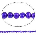 Barok Beads kulturuar Pearl ujërave të ëmbla, Pearl kulturuar ujërave të ëmbla, Nuggets, i lyer, vjollcë e errët, 8-9mm, : 1mm, :14.7Inç,  14.7Inç,