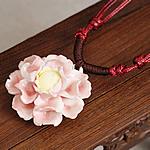 Gjerdan Porcelani, with Cord Wax, Lule, punuar me dorë, Antique imitim, rozë, 40-50mm, :21-50cm, 5Fije floku/Shumë,  Shumë