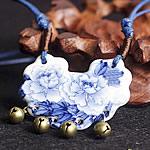 Gjerdan Porcelani, Shape Tjera, punuar me dorë, Antique imitim, asnjë, 50x46mm, :21-50cm, 5Fije floku/Shumë,  Shumë