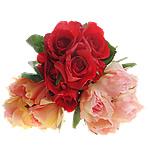 Lule artificiale Kryesore Dekor, Mëndafsh, Shape Tjera, asnjë, asnjë, ngjyra të përziera, 180x300x200mm, 10PC/Shumë,  Shumë