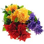 Lule artificiale Kryesore Dekor, Mëndafsh, asnjë, asnjë, ngjyra të përziera, 270x750x310mm, 10PC/Shumë,  Shumë