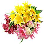Lule artificiale Kryesore Dekor, Plastik, asnjë, asnjë, ngjyra të përziera, 430x700mm, 10PC/Shumë,  Shumë