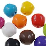 Beads Solid Color akrilik, Nuggets, asnjë, ngjyra të forta, ngjyra të përziera, 13.50x13x12mm, : 3mm, 5KG/Shumë,  Shumë
