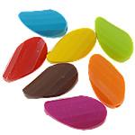 Beads Solid Color akrilik, Mango, asnjë, ngjyra të forta, ngjyra të përziera, 17.50x32x8mm, : 2.5mm, 5KG/Shumë,  Shumë