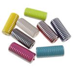Beads plumb Zi akrilik, Kolonë, plumbit ngjyrë të zezë praruar, ngjyra të forta, ngjyra të përziera, 12.50x29.50x11mm, : 2mm, 5KG/Shumë,  Shumë