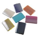 Beads plumb Zi akrilik, Drejtkëndësh, plumbit ngjyrë të zezë praruar, ngjyra të forta, ngjyra të përziera, 20x29x4.50mm, : 2mm, 5KG/Shumë,  Shumë
