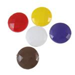 Beads Solid Color akrilik, Round Flat, asnjë, ngjyra të forta, ngjyra të përziera, 25x8.5mm, : 2.5mm, 5KG/Shumë,  Shumë