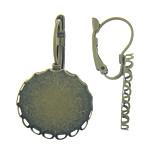 Llozi tunxh Back Vath Komponenti, Shape Tjera, Ngjyra antike bronz i praruar, asnjë, , nikel çojë \x26amp; kadmium falas, 21x32x12mm,2.5mm, : 20x20mm, 100Çiftet/Qese,  Qese