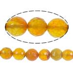 Beads Kuq Natyrore agat, Red agat, Round, asnjë, faceted, 8mm, : 1mm, :15Inç, 10Fillesat/Shumë,  Shumë