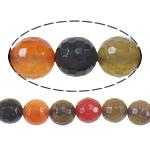 Agat Beads, Agat përziera, Round, asnjë, i përzier, 10mm, : 1mm, :16Inç, 10Fillesat/Shumë,  Shumë