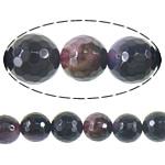 Natyrore Dy-ton Beads agat, Dy agat Ton, Round, asnjë, faceted, 14mm, : 1.5mm, :16Inç, 5Fillesat/Shumë,  Shumë