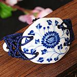 Porcelani byzylyk, with Cord najlon, Shape Tjera, punuar me dorë, asnjë, asnjë, 50x40mm, :7-9Inç, 2Fillesat/Shumë,  Shumë