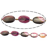 Beads Natyrore Purple agat, Oval Flat, asnjë, 25x40x7mm, : 2mm, :16Inç, 10Fillesat/Shumë,  Shumë