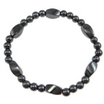 Hematite Bracelet, different styles for choice, A Grade, 6x12mm,6mm, Sold Per 7.5 Inch Strand