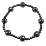 Hematite Bracelet, different styles for choice, A Grade, 10mm,4mm, Sold Per 7.5 Inch Strand