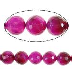 Dashuri Rose Beads agat, Rose agat, Round, asnjë, faceted, 20mm, : 2.2mm, :16Inç, 5Fillesat/Shumë,  Shumë