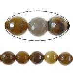 Agat Beads, Agat Kafe, Round, asnjë, faceted, 16mm, : 2.2mm, :16Inç, 5Fillesat/Shumë,  Shumë