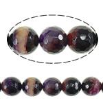 Natürliche violette Achat Perlen, Violetter Achat, rund, verschiedene Größen vorhanden & facettierte, Bohrung:ca. 1.5mm, Länge:ca. 16 ZollInch, verkauft von Menge