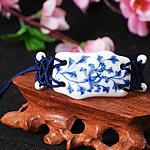 Porcelani byzylyk, with Cord najlon, Shape Tjera, punuar me dorë, asnjë, asnjë, 45x28mm, :7-10Inç, 2Fillesat/Shumë,  Shumë