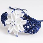 Porcelani byzylyk, with Cord najlon, Lule, punuar me dorë, asnjë, asnjë, 40-50mm, :7-10Inç, 4Fillesat/Shumë,  Shumë