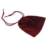 Drawstring çanta bizhuteri, Velveteen, Drejtkëndësh, asnjë, i kuq, 94x87x1mm, 100PC/Qese,  Qese