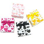 Shikojnë bizhuteri Box, Letër, Drejtkëndësh, asnjë, asnjë, ngjyra të përziera, 80x90x55mm, 24PC/Qese,  Qese