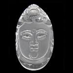 Crystal Pendants, Kuarc qartë, Lot, Gdhendur, të vetme të njëanshme, 22x39x12mm, : 1mm, 3PC/Shumë,  Shumë