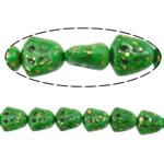 Bruz Beads, Bruz sintetike, Lot, asnjë, asnjë, e gjelbër, 15x14x10mm, : 2mm, :14Inç, 20Fillesat/Shumë,  Shumë