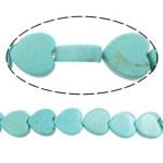 Bruz Beads, Bruz Natyrore, Zemër, i lyer, asnjë, dritë blu, 10x10x3mm, : 1mm, :16Inç, 10Fillesat/Shumë,  Shumë