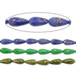 Bruz Beads, Bruz sintetike, Lot, asnjë, asnjë, ngjyra të përziera, 22x12mm, : 2mm, :15.6Inç, 20Fillesat/Shumë,  Shumë