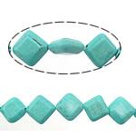 Bruz Beads, Bruz Natyrore, Romb, i lyer, asnjë, dritë blu, 10x10x4mm, : 1.4mm, :16Inç, 20Fillesat/Shumë,  Shumë