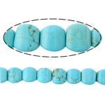 Bruz Beads, Bruz Natyrore, Kub, i lyer, asnjë, dritë blu, 8x8x8mm, : 1.2mm, :16Inç, 10Fillesat/Shumë,  Shumë