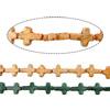 Bruz Beads, Bruz sintetike, Kryq, asnjë, asnjë, ngjyra të përziera, 16x12x4mm, : 1mm, :16Inç, 30Fillesat/Shumë,  Shumë