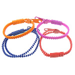 Plastic Bracelet Jewelry, zipper bracelet design, harmless, more colors for choice, 24.5x9mm, 34x10mm, 6mm, Sold per approx 7.5-Inch Strand