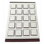 Unaza lëkure Display, lëkurë saten, with Karton, Drejtkëndësh, asnjë, asnjë, e bardhë, 350x240x30mm, 5PC/Qese,  Qese