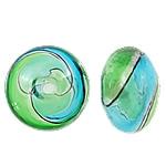 Beads lulëzim Lampwork, Round Flat, fryj, asnjë, asnjë, 16.5x11mm, : 2.5mm, 50PC/Qese,  Qese