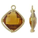Varëse Rrëshirë, Alloy zink, Diamant, ngjyrë ari praruar, matte, asnjë, , nikel çojë \x26amp; kadmium falas, 15.50x19x6.50mm, : 1.5mm, 50PC/Qese,  Qese