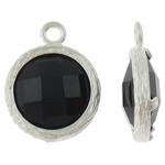 Varëse Rrëshirë, Alloy zink, Round Flat, Ngjyra argjend praruar, matte, asnjë, , nikel çojë \x26amp; kadmium falas, 13.50x17x5mm, : 1.5mm, 50PC/Qese,  Qese
