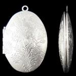 Varëse medalion Zink Alloy, Oval, Ngjyra argjend praruar, asnjë, asnjë, , nikel çojë \x26amp; kadmium falas, 27x42x9.50mm, : 2mm, 50PC/Qese,  Qese