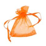 Drawstring çanta bizhuteri, Organza, asnjë, i tejdukshëm, portokall, 52x67x0.20mm, 1000PC/Qese,  Qese