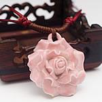 Zinxhiri gjerdan triko, Porcelan, Lule, endura, asnjë, rozë, 40mm, : 15-26Inç, 10Fillesat/Shumë,  Shumë
