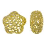 Beads Alloy zink Lule, ngjyrë ari praruar, i uritur, asnjë, , nikel çojë \x26amp; kadmium falas, 22.50x22x13mm, : 2.5mm, 50PC/Qese,  Qese