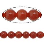 Beads Kuq Natyrore agat, Round, asnjë, asnjë, Një, 4mm, : 1.5mm, : 15Inç, 10Fillesat/Shumë,  Shumë