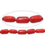Beads Natyrore Coral, Coral Natyrore, Nuggets, i lyer, i kuq, 4-6x7-10mm, : 1mm, :16Inç, 10Fillesat/Shumë,  Shumë