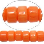 Beads Natyrore Coral, Coral Natyrore, Rondelle, i lyer, kuq pak portokalli, 6x4mm, : 1mm, :15.7Inç, 10Fillesat/Shumë,  Shumë