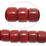 Beads Natyrore Coral, Coral Natyrore, Rondelle, i kuq, 6x4mm, : 1mm, :16.5Inç, 10Fillesat/Shumë,  Shumë