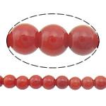 Beads Natyrore Coral, Coral Natyrore, Round, i lyer, i kuq, 3mm, : 0.5mm, :16Inç, 10Fillesat/Shumë,  Shumë